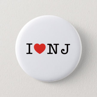 I LOVE New Jersey 2 Inch Round Button