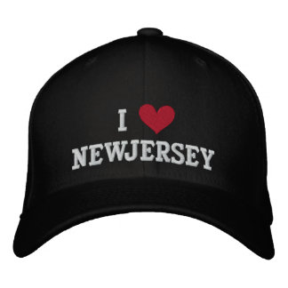 I LOVE NEW JERSEY EMBROIDERED HAT