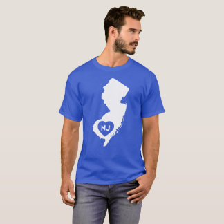 I Love New Jersey State Men's Basic Dark T-Shirt
