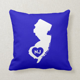 I Love New Jersey State Throw Pillow