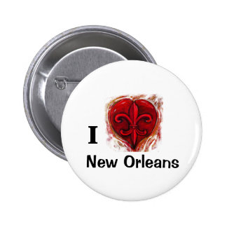 I Love New Orleans 2 Inch Round Button
