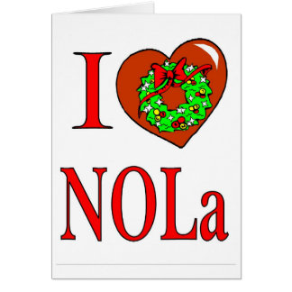 I Love New Orleans Christmas Card