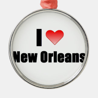 I Love New Orleans Metal Ornament