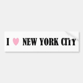 I Love New York City Bumper Sticker