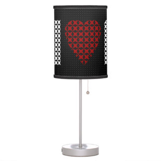 I Love New York City Christmas Sweater Texture Table Lamp