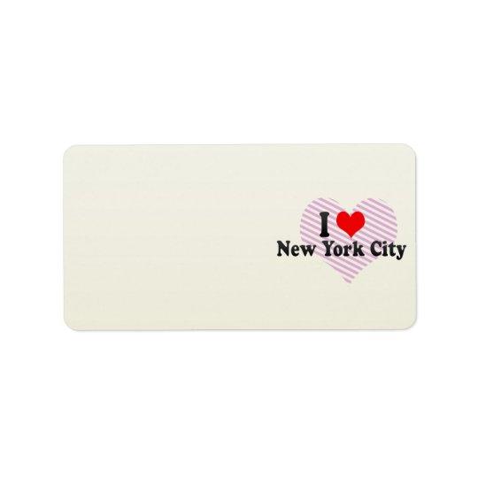 I Love New York City, United States Label
