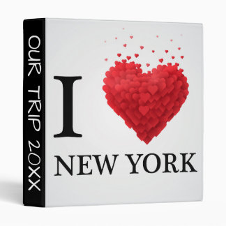 I Love New York Hearts 3 Ring Binders