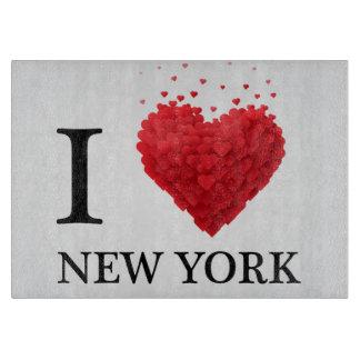 I Love New York Hearts Cutting Board