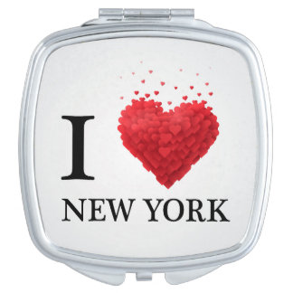I Love New York Hearts Mirrors For Makeup