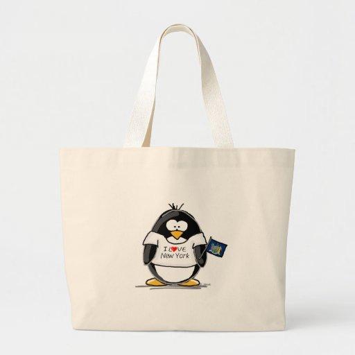 I Love New York Penguin Canvas Bags