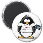 I Love New York Penguin Fridge Magnet
