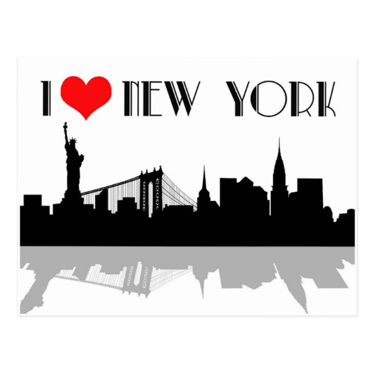 I love New york postcard. Postcard