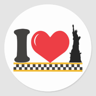 I Love New York Round Sticker