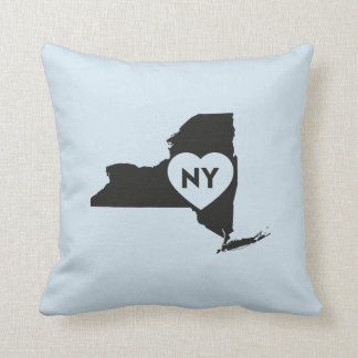 "I Love New York State Throw Pillow 16"" x 16"""