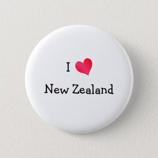 I Love New Zealand 2 Inch Round Button