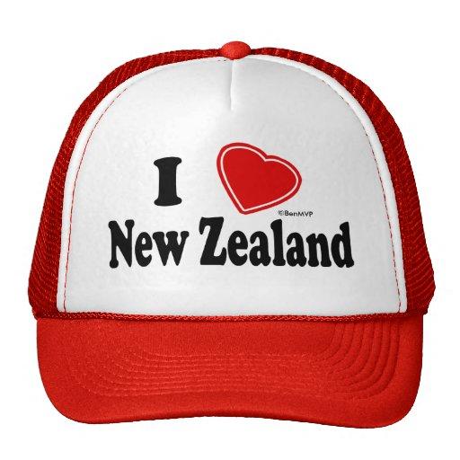 I Love New Zealand Trucker Hats