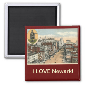 I LOVE Newark NJ Vintage Magnet