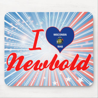 I Love Newbold, Wisconsin Mousepads