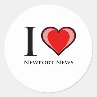 I Love Newport News Round Sticker