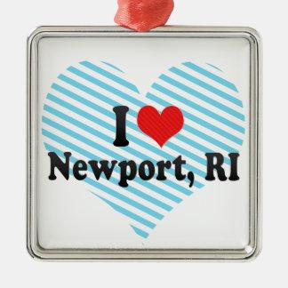 I Love Newport, RI Metal Ornament