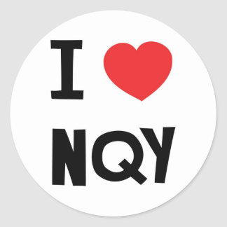I love Newquay Classic Round Sticker