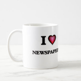I Love Newspapers Coffee Mug