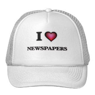 I Love Newspapers Trucker Hat