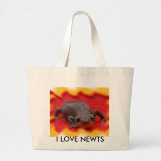 I Love Newts Large Tote Bag