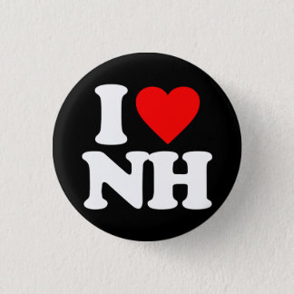 I LOVE NH 1 INCH ROUND BUTTON