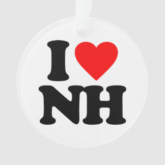 I LOVE NH ORNAMENT