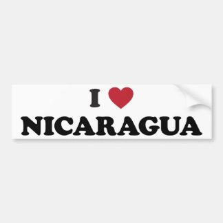 I Love Nicaragua Bumper Sticker