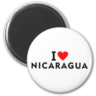 I love Nicaragua country like heart travel tourism Magnet