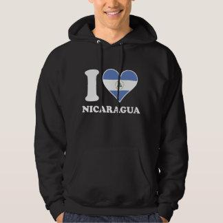 I Love Nicaragua Nicaraguan Flag Heart Hoodie
