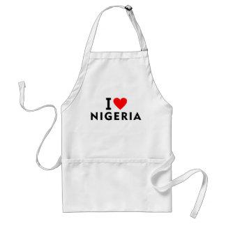 I love Nigeria country like heart travel tourism Standard Apron