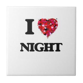 I Love Night Ceramic Tiles