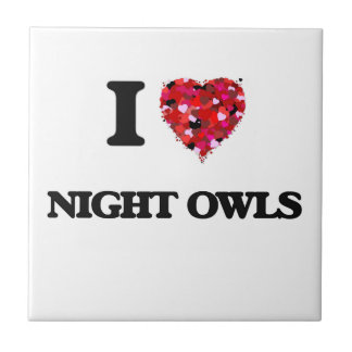 I Love Night Owls Tiles