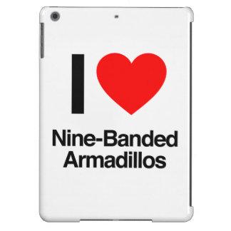 i love nine-banded armadillos iPad air cover