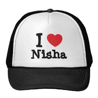 I love Nisha heart T-Shirt Trucker Hat