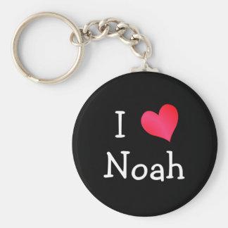 I Love Noah Keychain