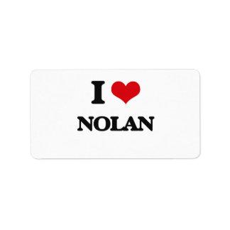 I Love Nolan Address Label