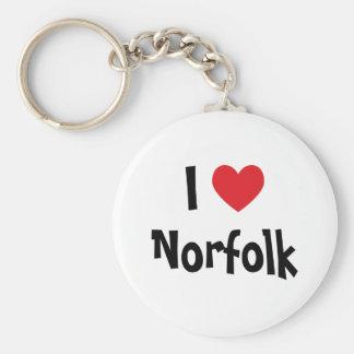 I Love Norfolk Basic Round Button Keychain