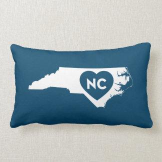 I Love North Carolina State Lumbar Pillow