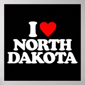 I LOVE NORTH DAKOTA POSTER