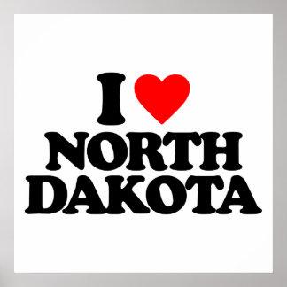 I LOVE NORTH DAKOTA PRINT