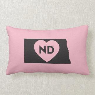"I Love North Dakota State Lumbar Pillow 13"" x 21"""