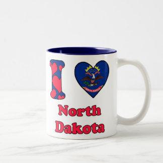 I love North Dakota Two-Tone Coffee Mug