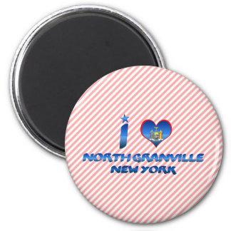 I love North Granville, New York 2 Inch Round Magnet