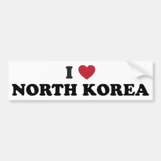 I Love North Korea Bumper Sticker