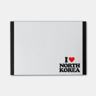 I LOVE NORTH KOREA POST-IT NOTES