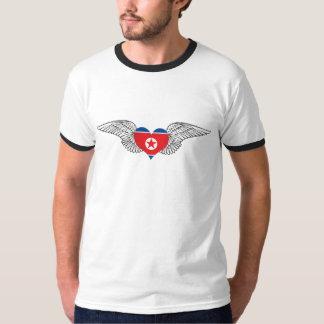 I Love North Korea -wings T-Shirt